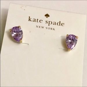 Kate Spade violet stud earrings
